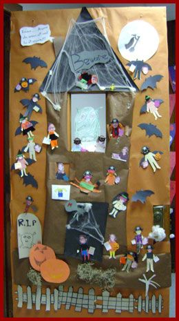 find this pin and more on halloween in the classroom lots of halloween door decoration ideas