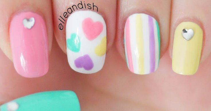 Diseño de uñas románticas en tonos pastel paso a paso
