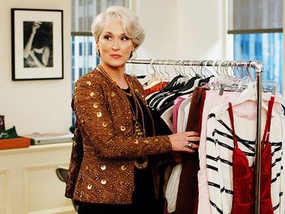 Merly Streep as Miranda Priestly.  The Devil Wears Prada.