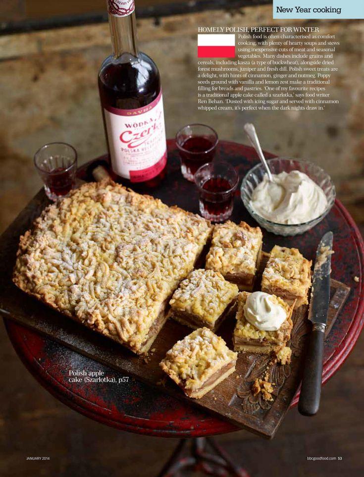 Polish Apple Cake - BBC Good Food Magazine - Ren Behan Food   renbehan.com