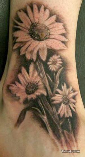Daisy Tattoos For Men: 20 Best Tatoo-marguerite Images On Pinterest