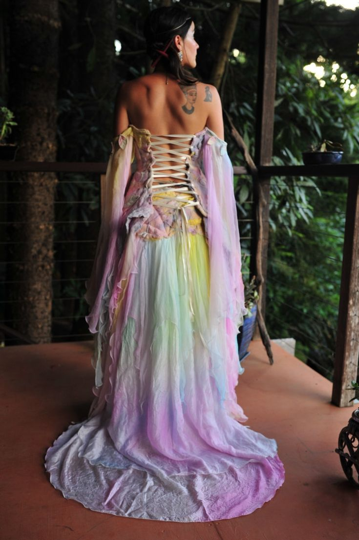 RESERVED for a very special Fae - Nuno Felted Magical Silk Leaf And Vine Elven Princess Goddess Queen Wedding Gown Dress Top OOAK. $500.00, via Etsy.