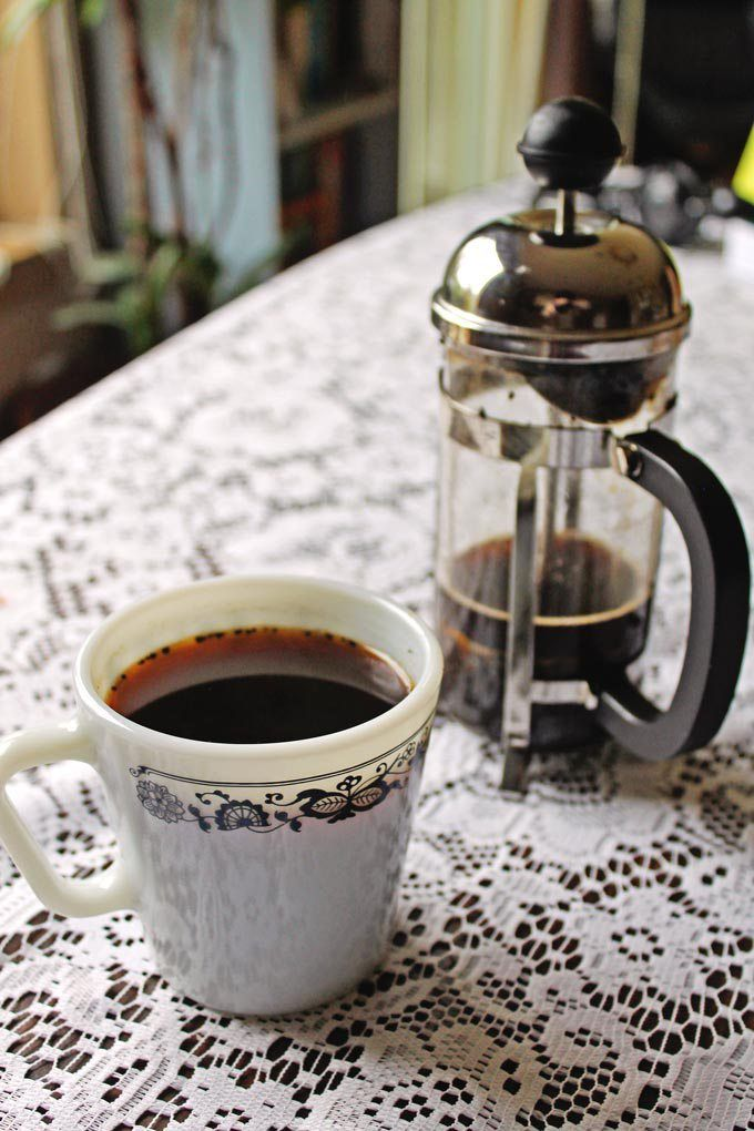Colombian coffee brewed with aguapanela recipe from Global Feasts Colombia. // Rhubarbarians