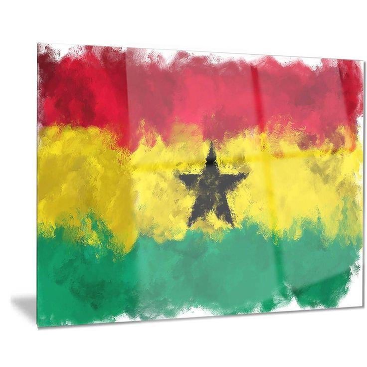 Designart 'Ghana Flag Illustration' Flag Painting