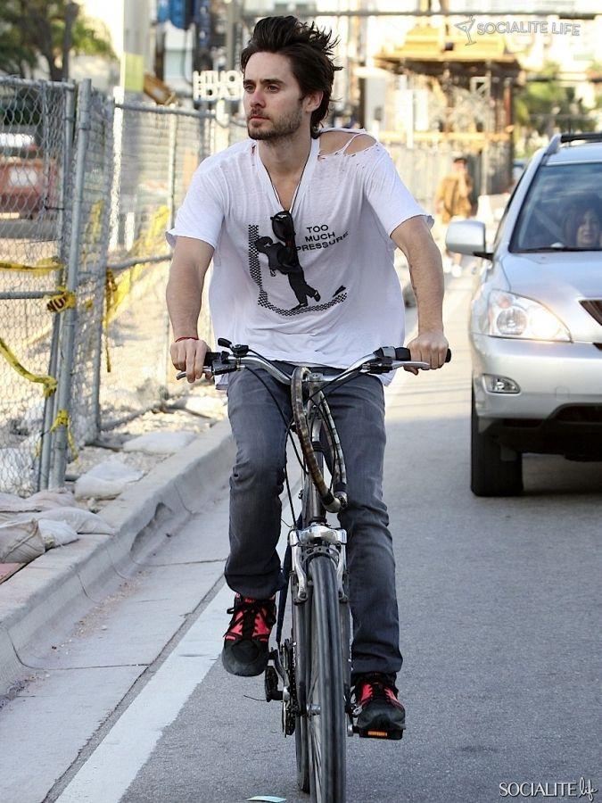 Jared Leto goes for a bike ride in Miami - 12/30/ 1