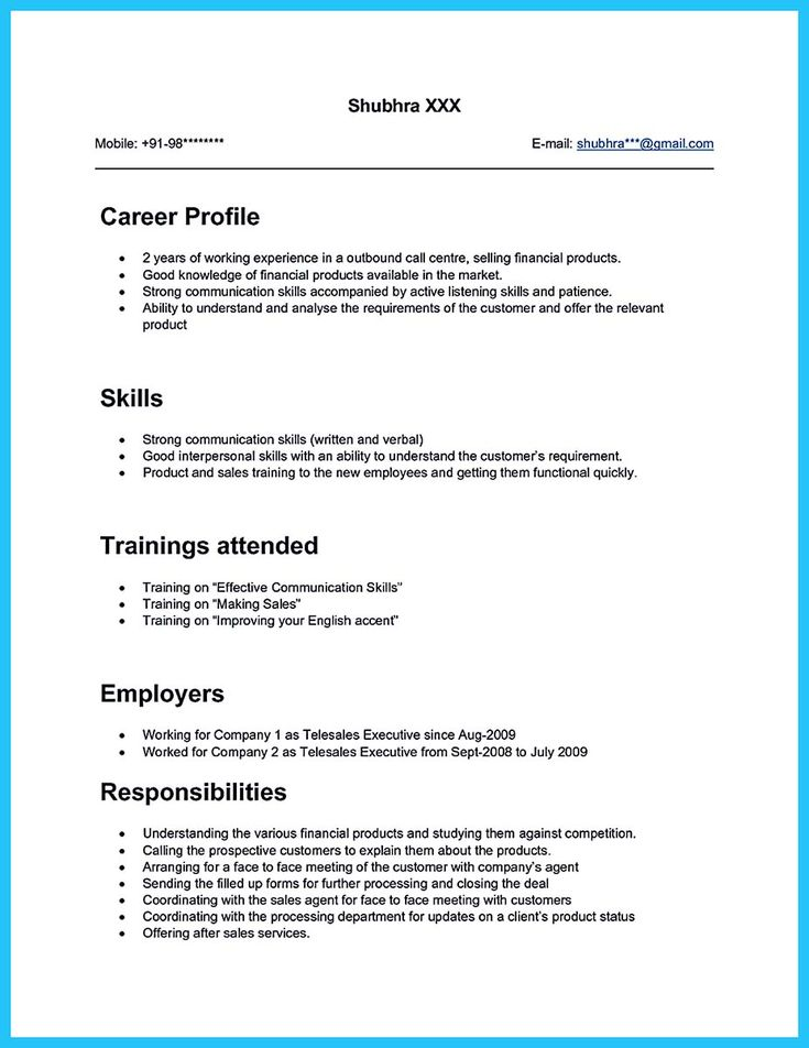 Nice Cool Information And Facts For Your Best Call Center Resume Sample Resume Objective Sample Resume Examples Sample Resume Format