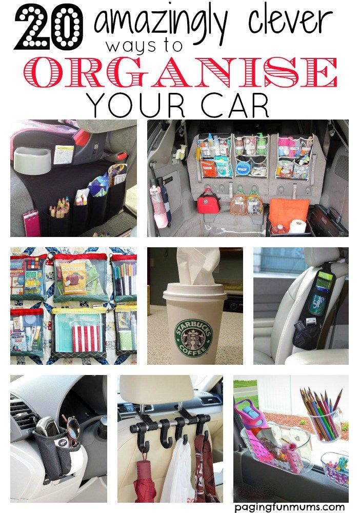 20 amazingly clever ways to organise your car! So many genius ideas! You must have this in your life!                                                                                                                                                                                 More