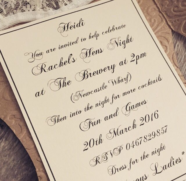 Hens party invites