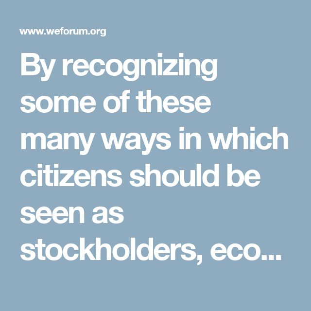 By recognizing some of these many ways in which citizens should be seen as stockholders, economic rent could start to be diverted from rentiers directly to citizens before any of it reaches the hands of governments or corporations.