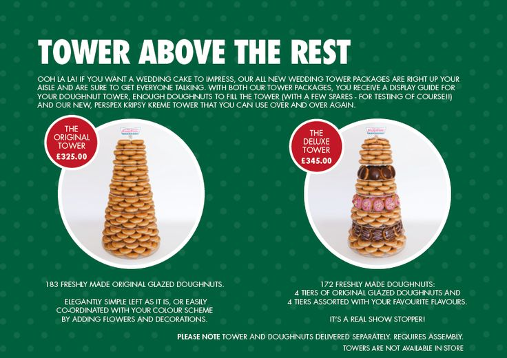 Totally having this if I have a second wedding!  Wedding Brochure Towers | Krispy Kreme Occasions