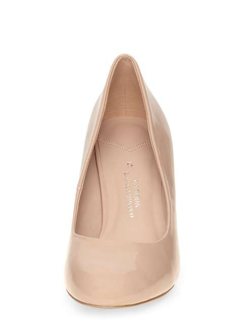 Wide Fit 'Wilamina' Nude Court Shoes