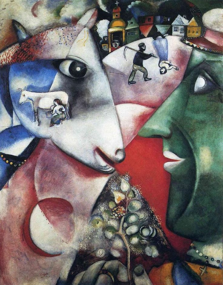 I and the Village, 1911 by Marc Chagall - with a narrative about the painting