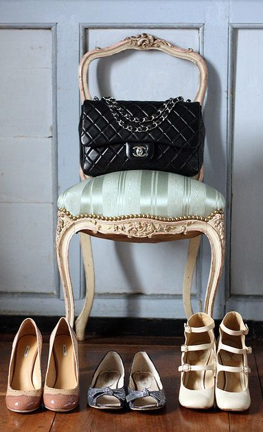 quilted bag? nude/pale heels? ladylike style staples!