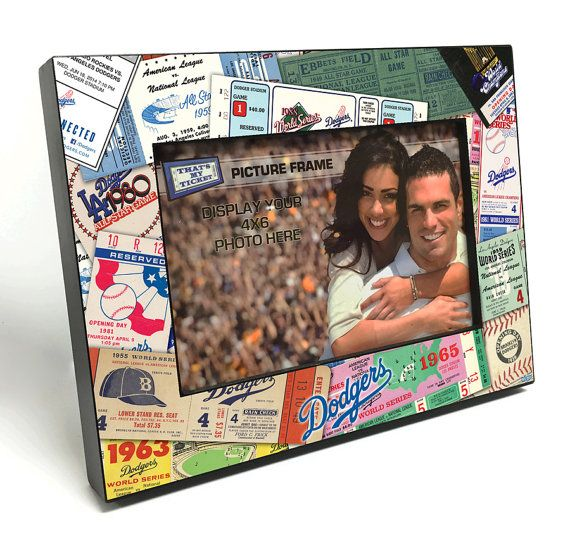 Los Angeles Dodgers Ticket Collage Wooden 4x6 inch Picture Frame - Officially Licensed by MLB