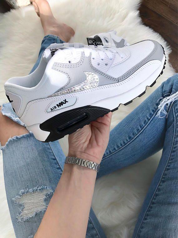 Frauen Air Max 90 Sneakers Gemacht Mit Swarovski Kristallen Produkt Nike Air Max 90 Ausgewahlte Kategorie Nike Air Max For Women Nike Air Max All Nike Shoes