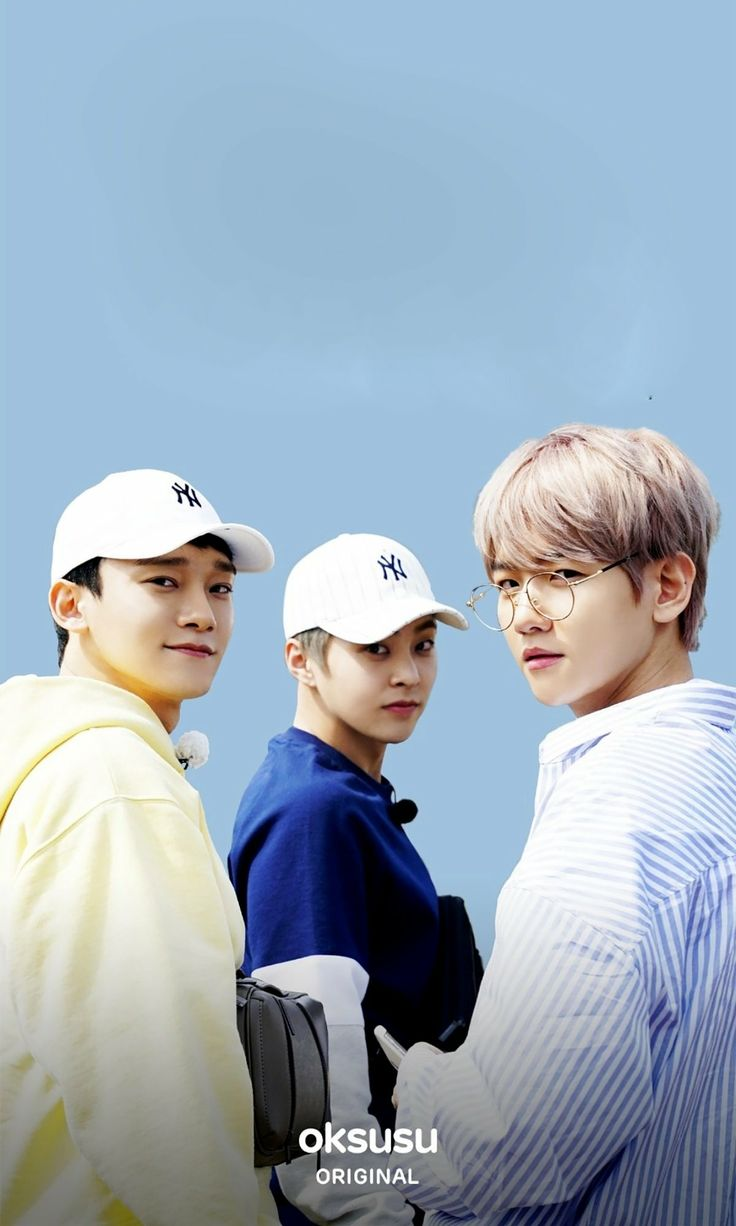 "[OFFICIAL] 180420 oksusu App Update with EXO-CBX: ""EXO 'Ride the Ladder, Travel the World' - CBX in Japan"" Posters"