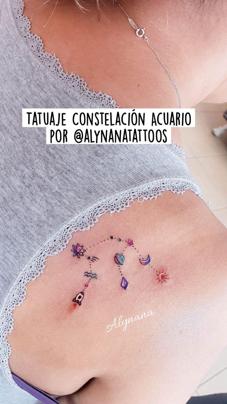 Small Tattoos, Cool Tattoos, Aquarius Sign, Arm Tattoos For Women, Minimal Tattoo, Shoulder Tattoo, Billie Eilish, Tattos, Watercolor Tattoo
