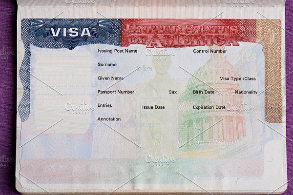 Blank American Visa Visa Free Printable Business Cards Printable Business Cards