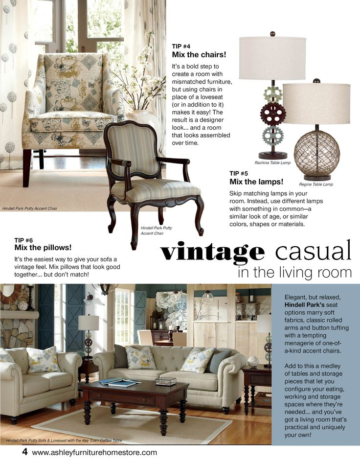 133 best images about vintage casual on pinterest for Casual living room furniture ideas