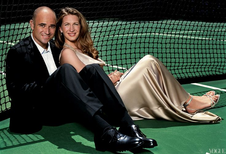 Andre Agassi and Steffi Graf- August 2004- Patrick Demarchelier photograph