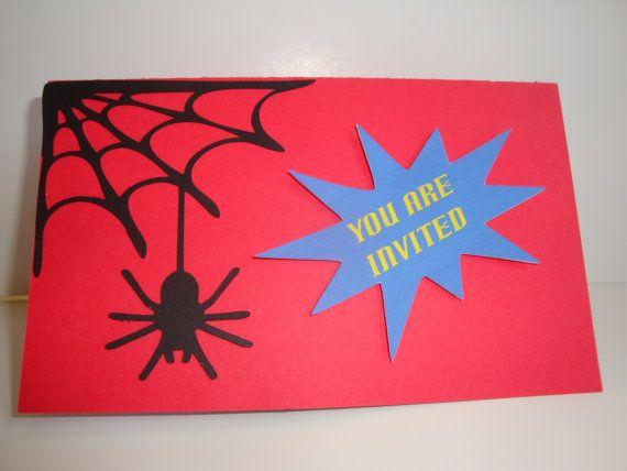 Spiderman Party invitations