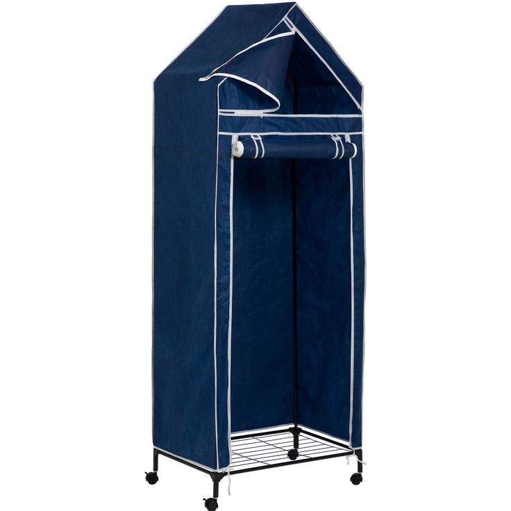 Whether you need additional space for hanging clothes or an extra shoe closet, the Closet Storage System Dress Shoe Organizer Home Rack Cabinet is like having a brand new closet at your disposal. Shelves on both top and bottom turn it into a shoe storage closet that is also ideal for stacking folded items. The roll-up door makes it easy to access what you need any time.