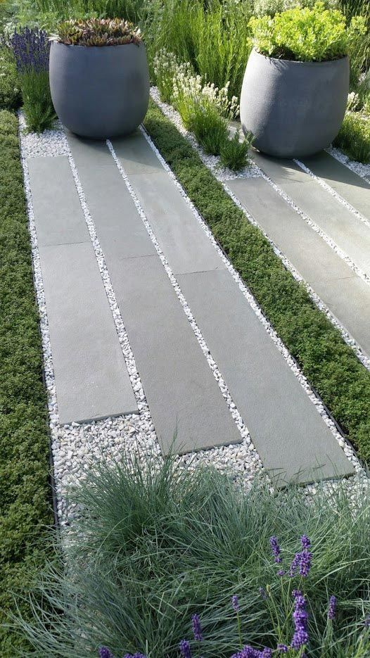 1000 ideas about gravel walkway on pinterest white for Paved garden designs