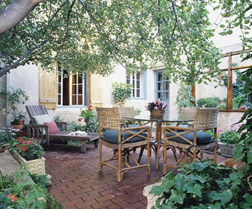 Create a Backyard Getaway: Create a Picture-Perfect Patio. A patio can be a hot slab of concrete baking in the sun--or it can be a welcoming extension of the house, calling you outdoors to enjoy cool breezes and fresh air. With a little planning, you can make your patio a comfortable seasonal room. Patios are usually surfaced with brick or stone. If you opt for concrete, consider adding texture and color to imitate stone for a more natural look. Design the patio to be an extension of your…
