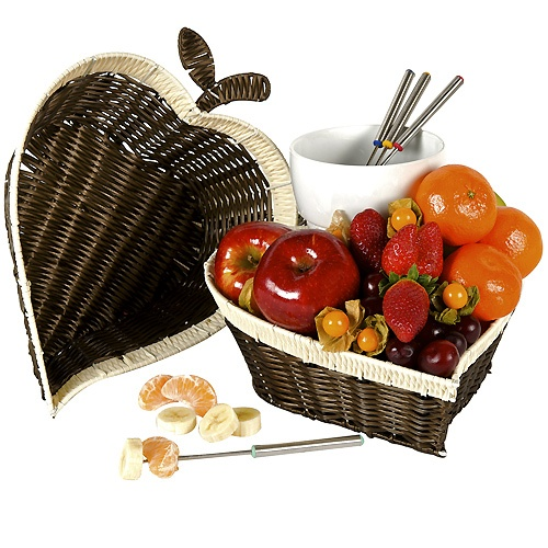 Cesta fondue con frutas #SanValentin #ElCorteIngles