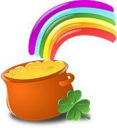 Geluk, Regenboog, Goud, Pot