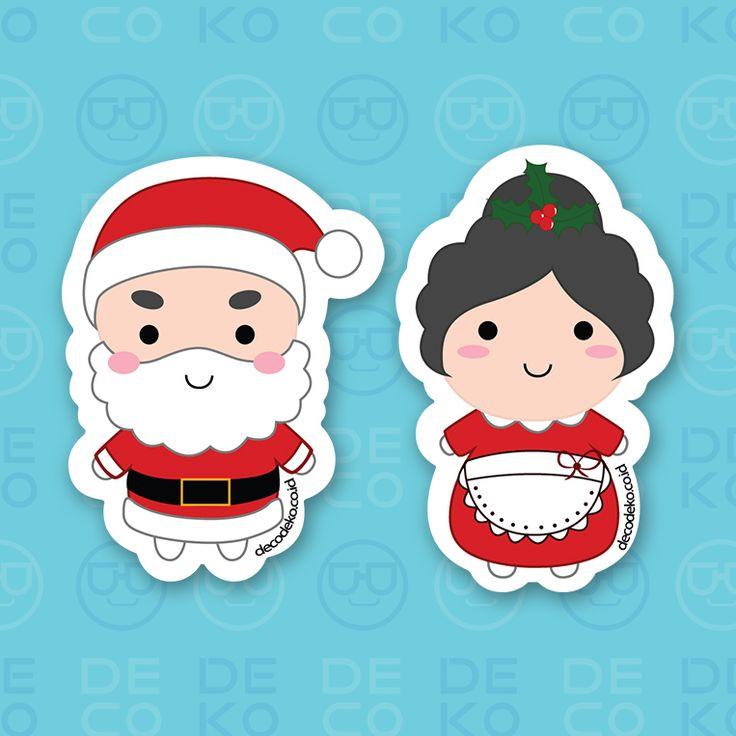 Sticker Santa Couple