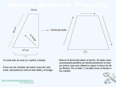 Novedades Paola: Cortina: Cenefas Entubada Cruzada