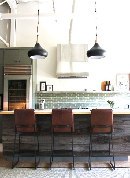 Modern #industrial #rustic #kitchen in California's wine country! http://cococozy.com Love this!