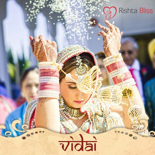 Out of all the rituals, Vidai is the most emotional aspect of the wedding festivities. The custom of throwing rice signifies that the bride is paying back or returning, whatever her parents have given her and she brings prosperity to her new house. #RishtoKiKahani