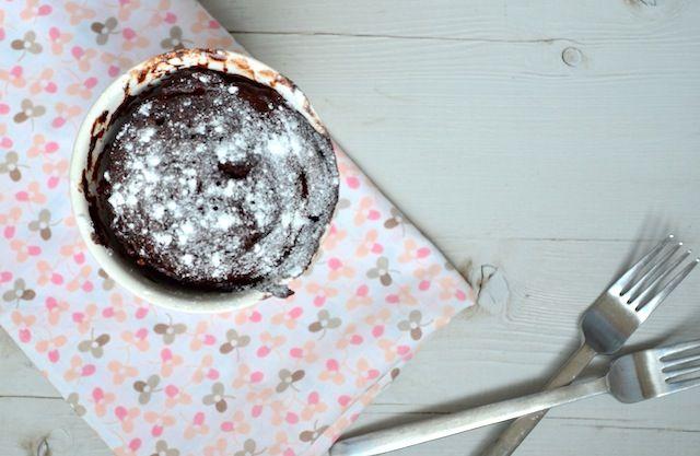 cake in de magnetron 1.5 minuut-