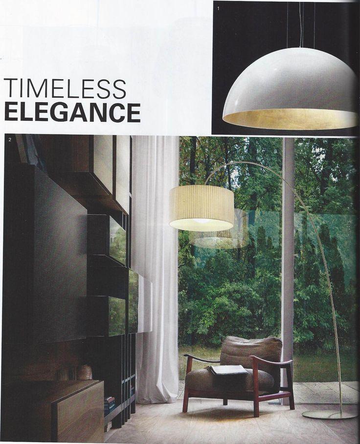 Fog Plissè arch floor lamp design Andrea Lazzari & Massimo Tonetto on STIJVOL WONEN magazine 12/2012