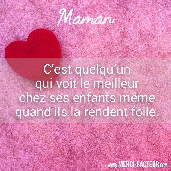 Définition de #Maman  😜 Vous êtes d'accord ? Alors, partagez ce post sur votre mûr ! Merci-facteur.com  #bonnehumeur #humour #carte
