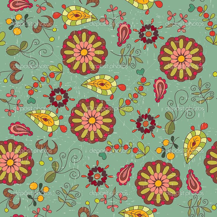 Attractive Love These Shapes   Vintage Floral Wallpaper Images