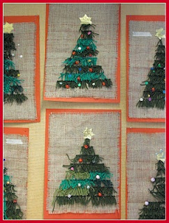 rya knotted Christmas trees