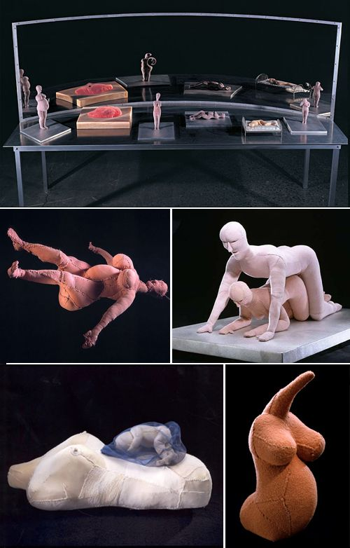 Louise Bourgeois - sculpture in plexi works