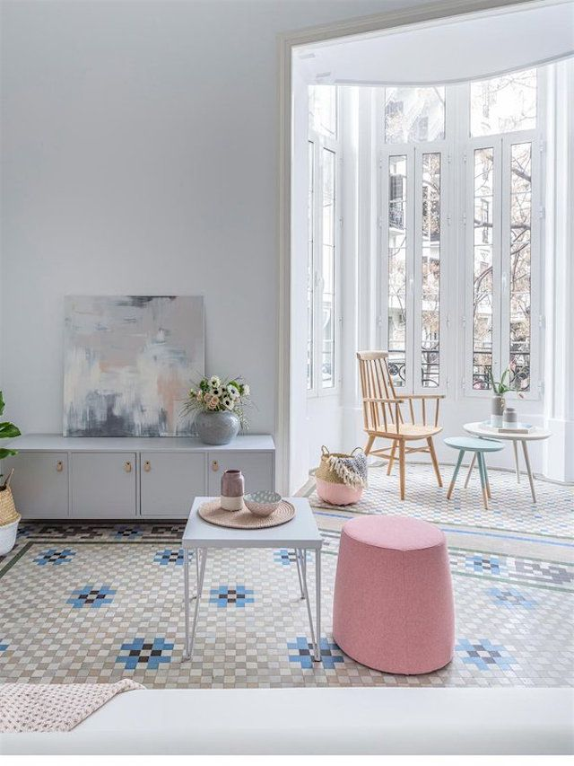 Visit: A Pantone 2016 pastel apartment | French By Design