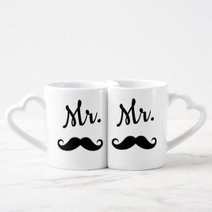 Vintage Love for the Fellas Mug Set - vintage wedding gifts ideas personalize diy unique style