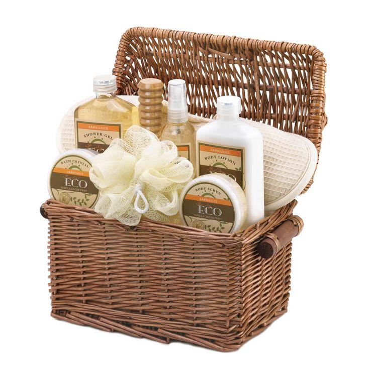 Spa Gift Baskets Aromanice Vanilla Ginger Spa Gift