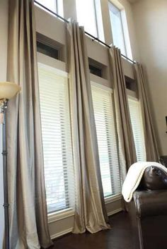 how to install bay window curtain rods - Google Search