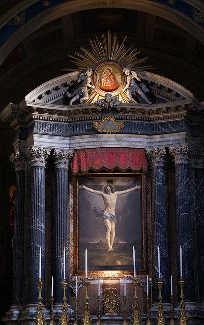 Rom, Piazza San Lorenzo in Lucina, San Lorenzo in Lucina, Hauptaltar mit einer Kreuzigung von Guido Reni (main altar with the Crucifixion by Guido Reni) | Flickr - Photo Sharing!