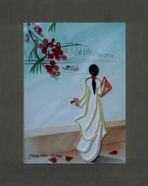 Tranh giấy xoắn kích thước 20cm x 25cm (Code: A44). Quilling painting dimension 20cm x 25cm (Code: A44). http://shopmynghe.com/detail2.php?id=2857