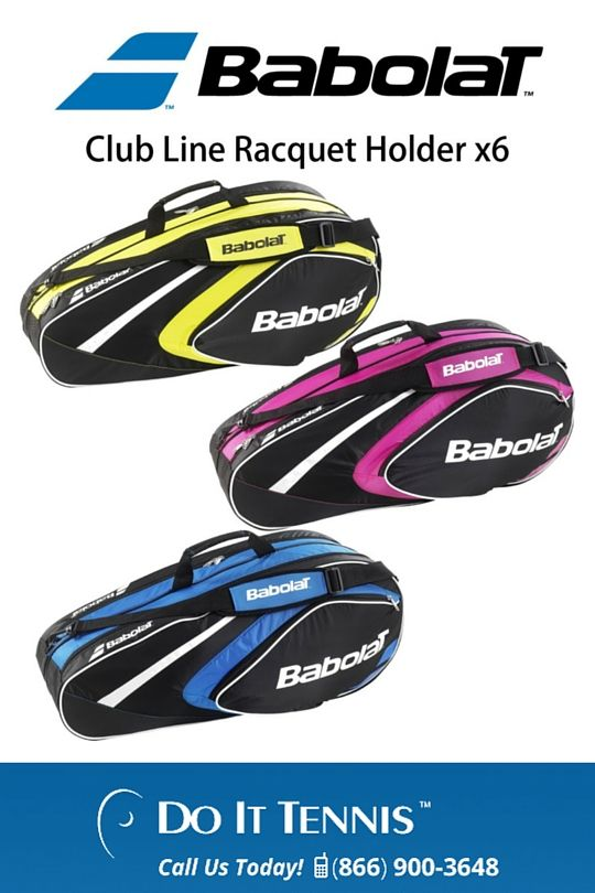 Babolat Club Tennis Bags - $39.95 at doittennis.com #Babolat #Tennis The Babolat Club Line racquet holders come with two tennis racquet compartments in various sizes. All Babolat Club Line Racquet Holders have aerated shoe compartments, keeping the other compartments fresh.