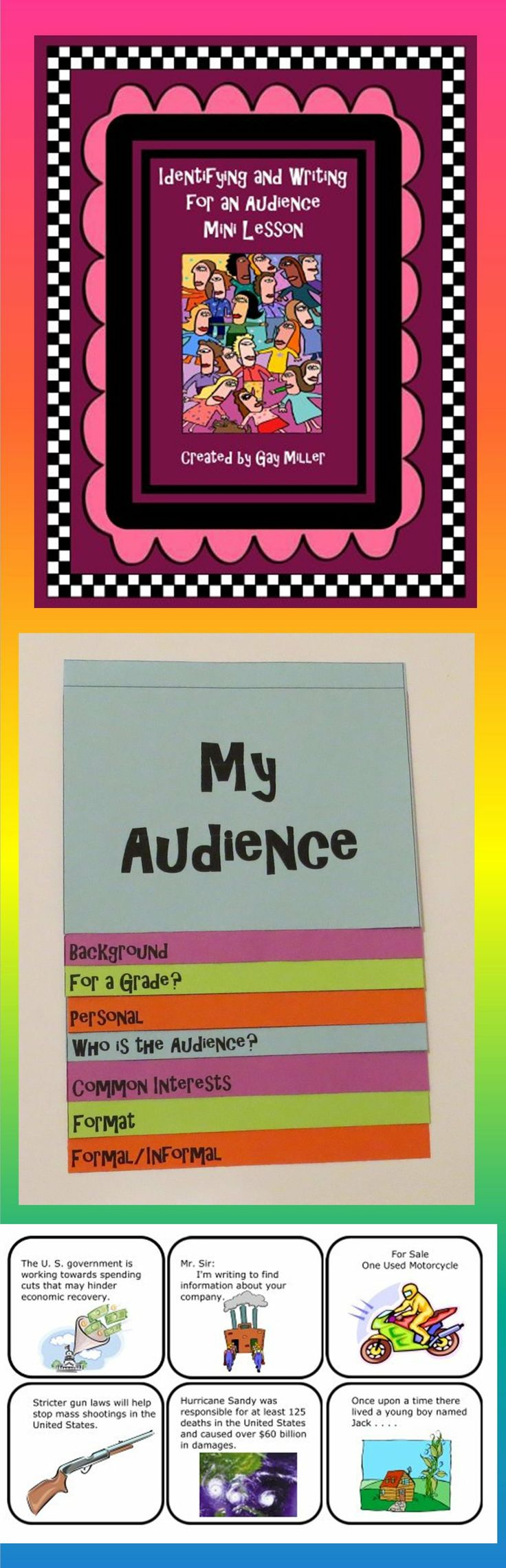 audience writing activity for 5th