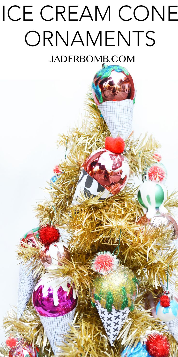 How to make christmas centerpieces with ice - Ice Cream Cone Christmas Ornaments Diy Come Check Out My Latest Post For Www