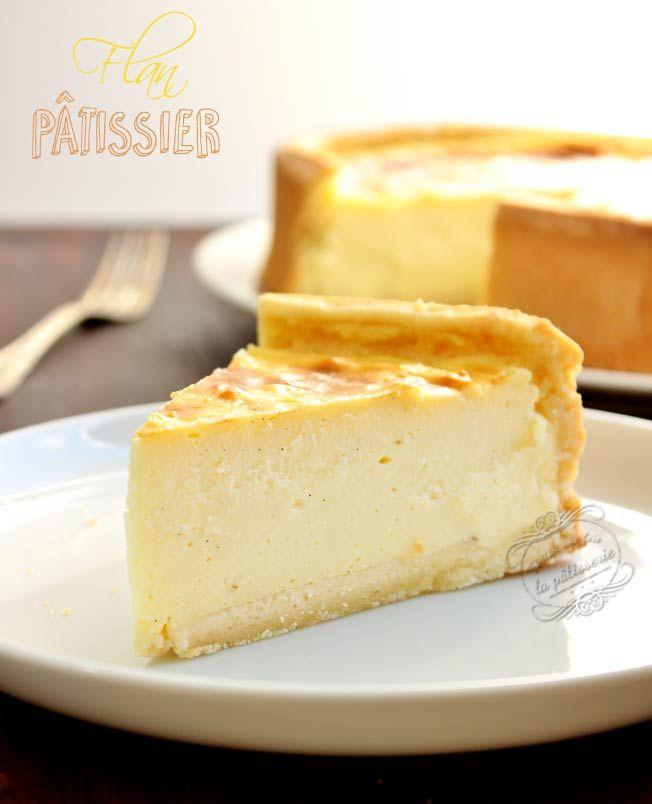Recette de flan pâtissier crémeux à la vanille. Custard tart recipe.